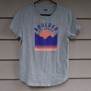Old Navy Boulder Colorado T Shirt Medium